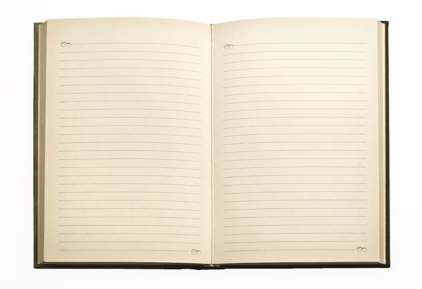 open blank journal