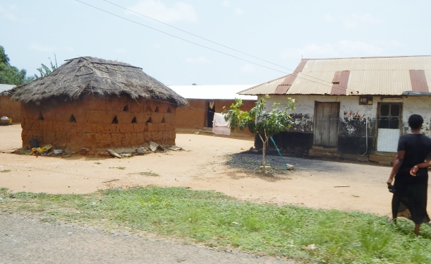 A few homes in Sogakope