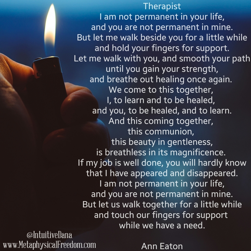 Therapist Poem Ann Eaton